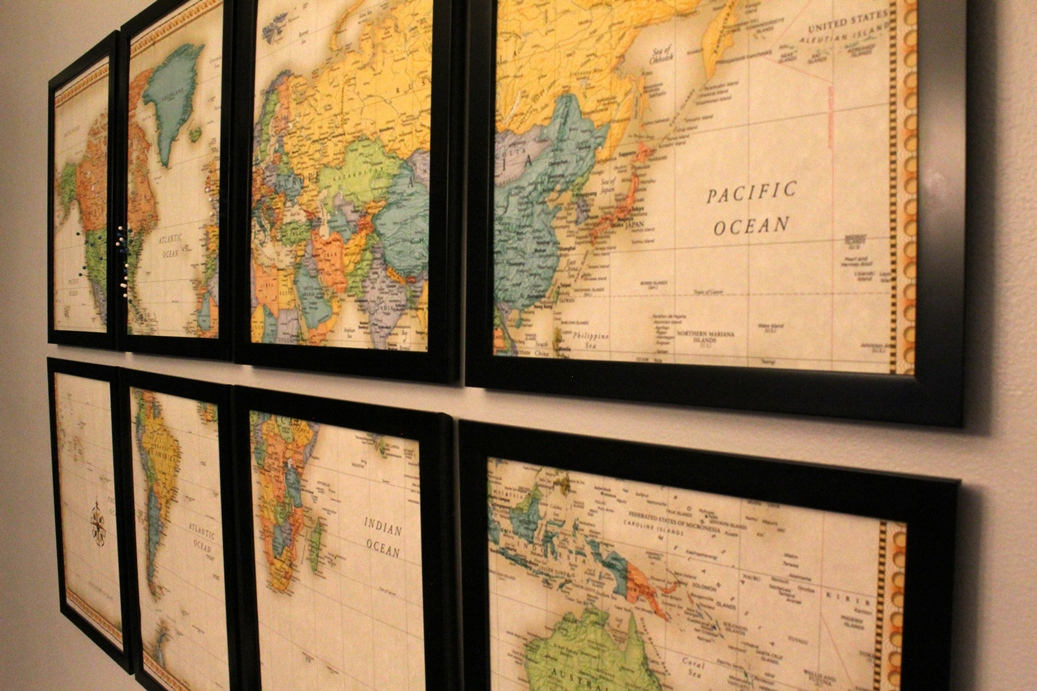 Dining Room Updates: Hanging the DIY Map Art | This Nest is Best